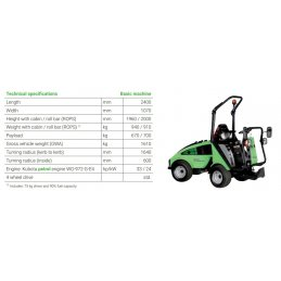 EGHOLM City Ranger 2260 komunalny traktorek do koszenia, zamiatania i odśnieżania