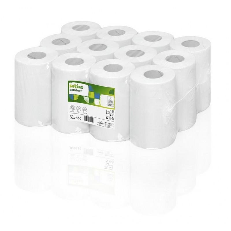 Ręcznik papierowy w roli centralnego dozowania makulatura Comfort, 120 m, 12 szt, 1 warstwa Wepa 317050-pureco.pl