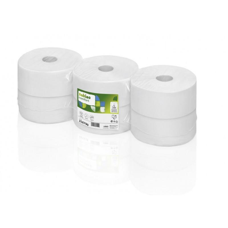 Papier toaletowy Jumbo JT2 duża rolka makulatura Comfort, 320 m, 6 szt, 2 warstwy Wepa 316790- pureco.pl