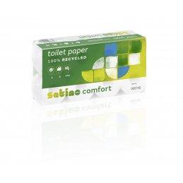Papier toaletowy MT1 mała rolka makulatura Comfort, 250 listków, 64szt, 2 warstwy Wepa 060740 027050 pureco.pl
