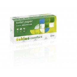 Papier toaletowy MT1 mała rolka makulatura Comfort, 250 listków, 72 szt, 3 warstwy Wepa 037060 - pureco.pl