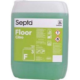 Septa Floor F 3 Fresh Citro profesjonalny zapachowy płyn do mycia podłóg cytrynowy - pureco.pl