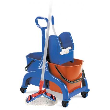 Fred Set Filmop wózek dwuwiaderkowy z wyciskarką i mopem płaskim