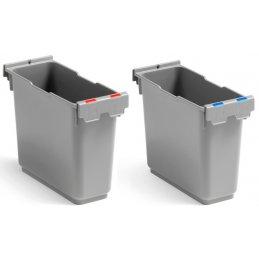 Prostokątny pojemnik plastikowy 6 l ze znacznikami w dwóch kolorach Prisma System Filmop