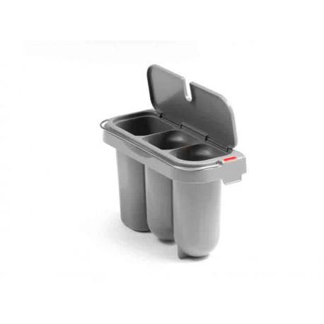 Plastikowy pojemnik z trzema przegrodami, pokrywą i uchwytem Prisma System Filmop