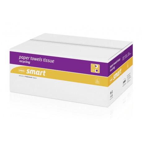 Ręcznik papierowy składany V makulatura Smart, 3200 szt, 2 warstwy Wepa 276084