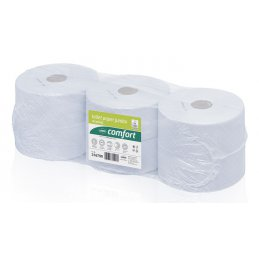 Papier toaletowy Jumbo duża rolka makulatura Comfort, 320 m, 6 szt, 2 warstwy Wepa 316790