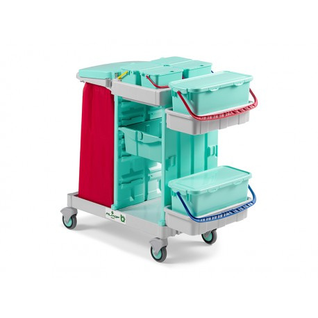 Ab Plus system Alpha wózek serwisowy do placówek medycznych z otwartą pułką