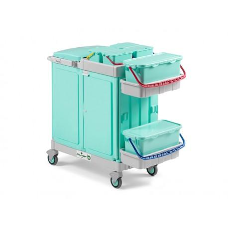 Ab Plus system Alpha wózek serwisowy do placówek medycznych z pełnym zamknięciem