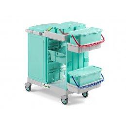Ab Plus system Alpha wózek serwisowy do placówek medycznych z zabudowanym workiem na zanieczyszczenia
