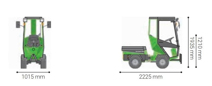 Traktorek komunalny park ranger 2150