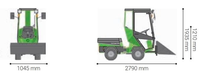 Traktorek z łopatą przechylną