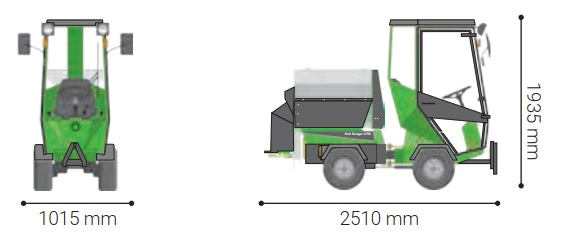 Odśnieżarka z posypywarką soli i piasku
