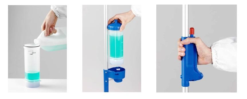 napełnianie zbiornika do mopa płaskiego