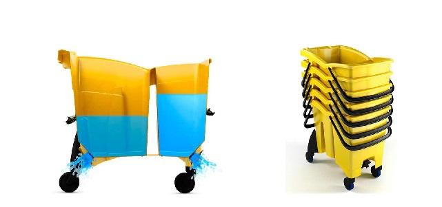 profesjonalne zestaw do sprzątania wózek dwukomorowy na kółkach