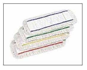 system kolorowych pasków w mopach do dezynfekcji
