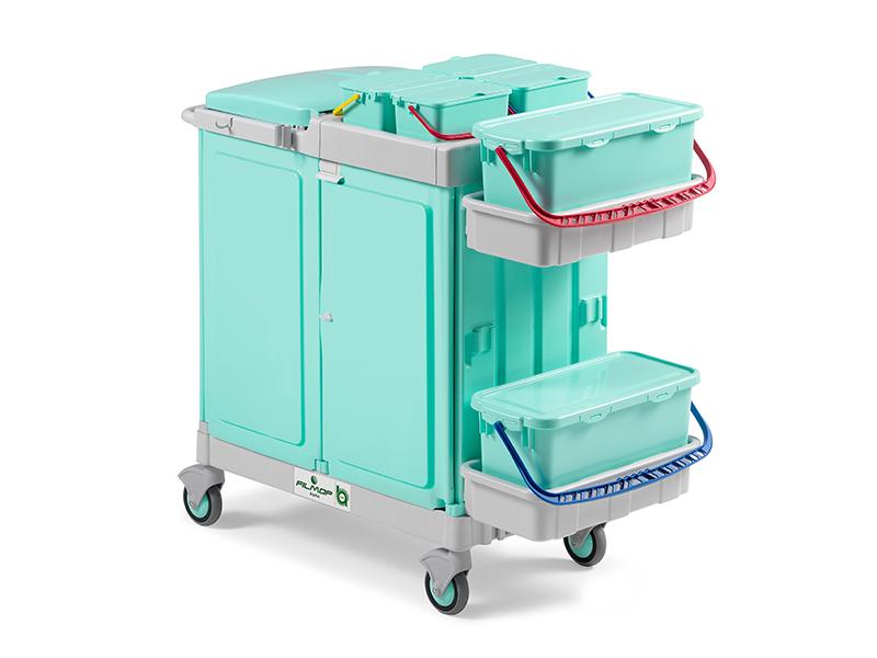 profesjonalny  wózek systemowy filmop do szpitali z pełnym zamknięciem