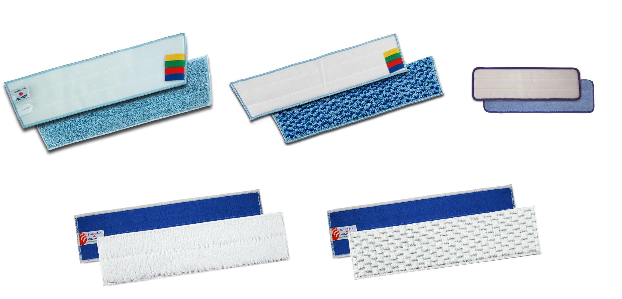 Profesjonalne mopy mikrofibra  na rzep system Velcro