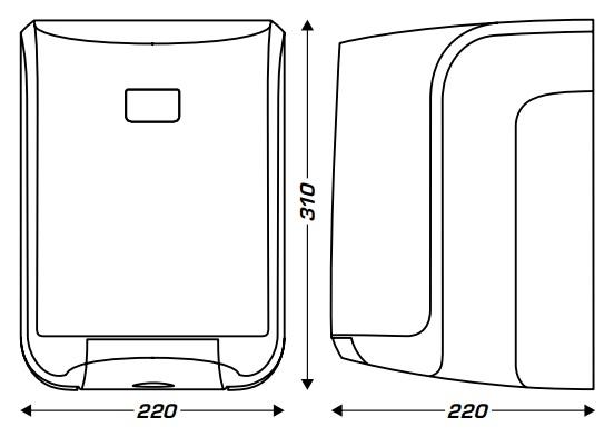 wymiary dozownika na rolkę ręcznika midi