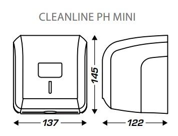 wymiary dozownika do papieru toaletowego mała rolka