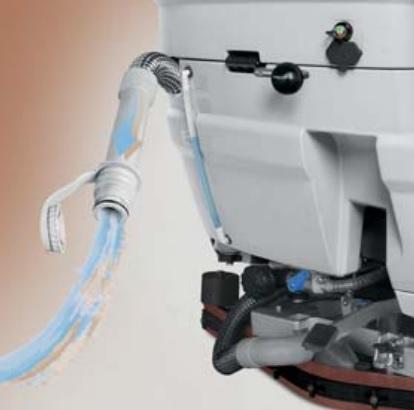 maszyna czyszcząca z szybkim opróżnianiem zbiornika