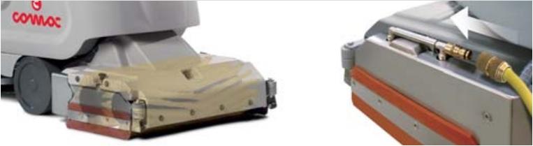 maszyna czyszcząca z cylindrycznymi szczotkami i system ich czyszczzenia