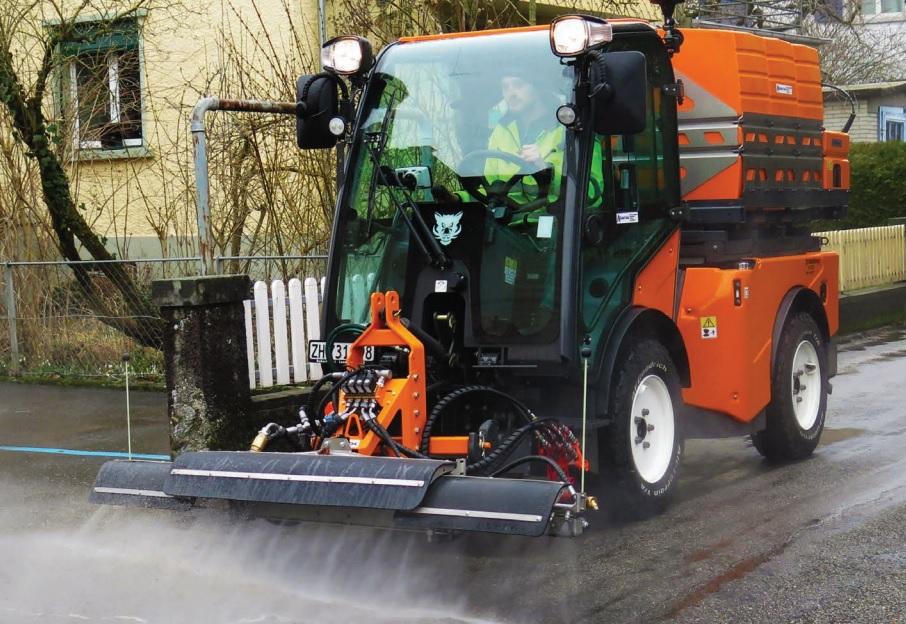 przemysłowa maszyna do czyszczenia ulic