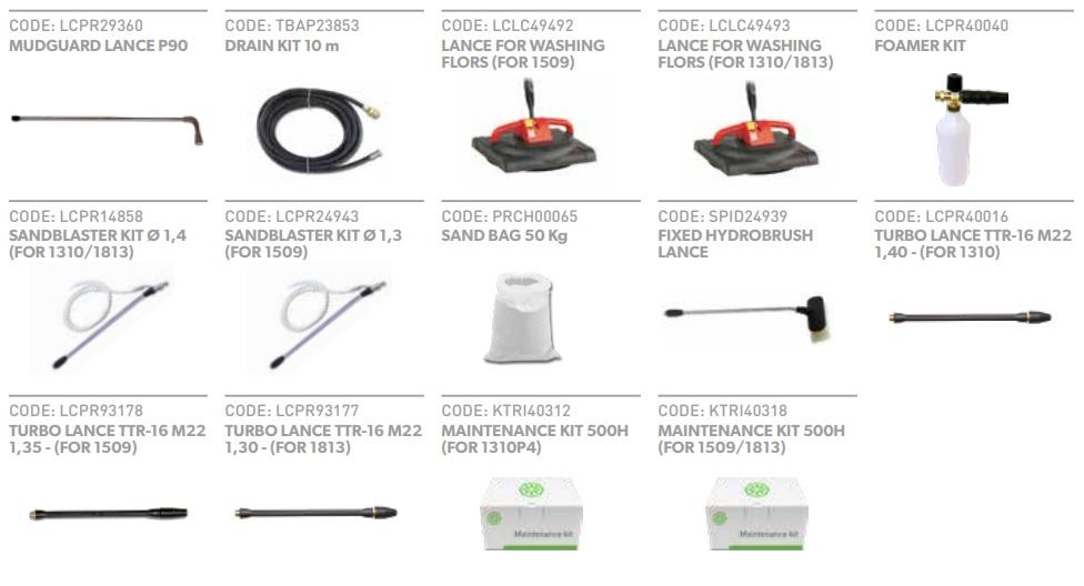 dodatkowe akcesoria do myjek wysokociśnieniowych
