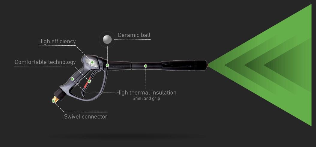 nowoczesny pistolet do myjki wysokociśnieniowej