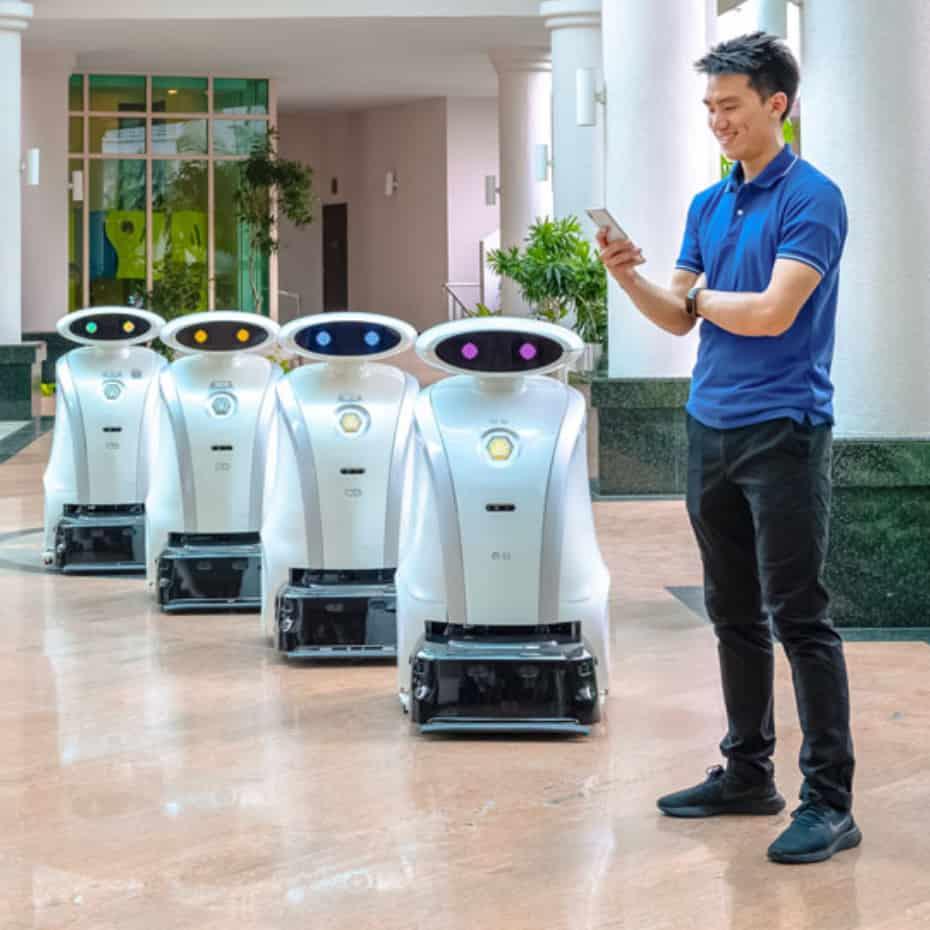 możliwość łączenia robotów