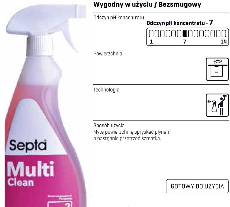Profesjonalny płyn do mycia mebli i wyposażenia w spryskiwaczu