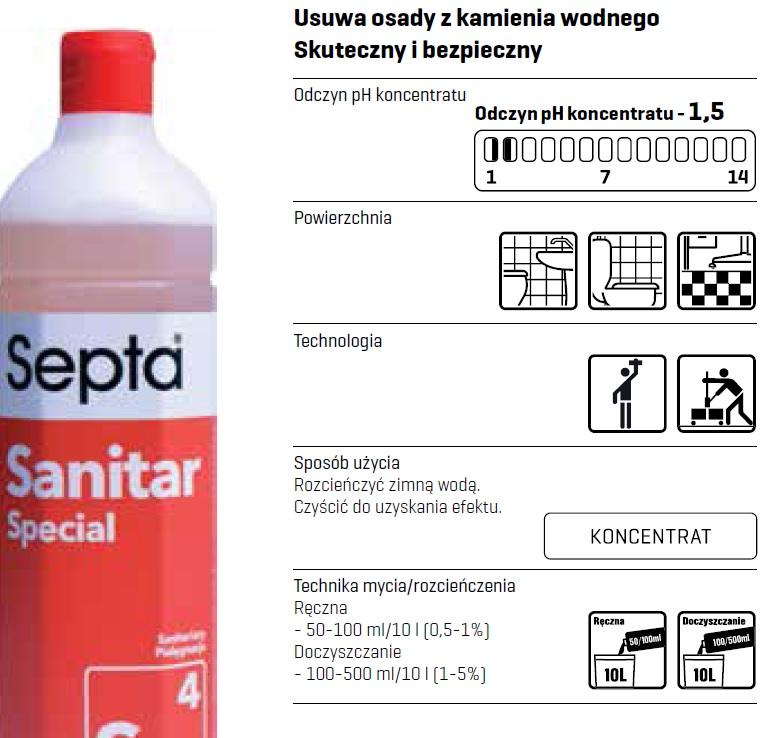 Profesjonalny płyn koncentrat do mycia i czyszczenia łazienki ph 1,5 charakterystyka