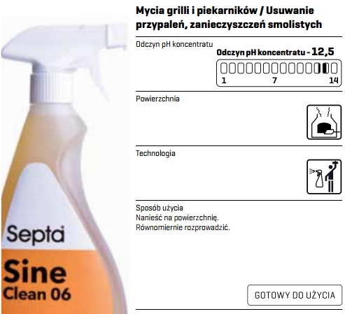 profesjonalny płyn alkaliczny do czyszczenia grilli i pieców