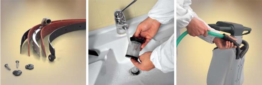 łatwe czyszczenie maszyny czyszczącej do mycia podłóg