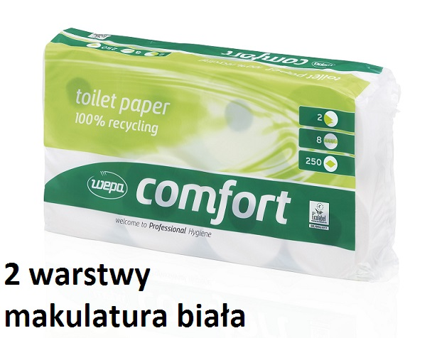 papier toaletowy makulatura biała dwuwarstwowa