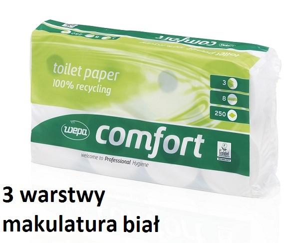 papier toaletowy mała rolka 3 warstwowy biała makulatura