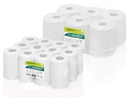 ręczniki w roli do centralnego dozowania wepa z makulatura  biała