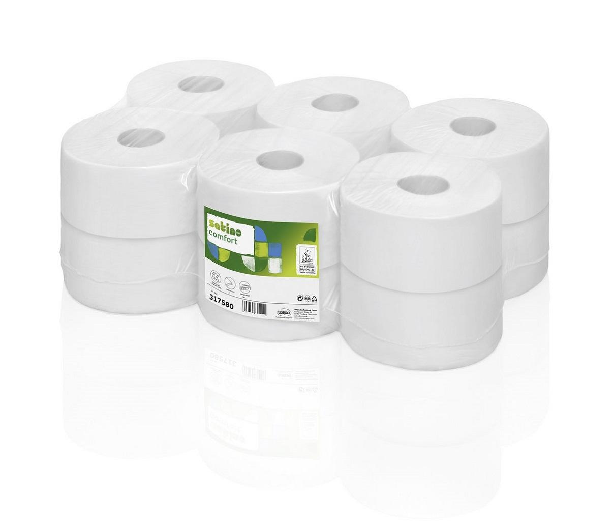 rpapier toaletowy centralnego dozowania listkowy cf2 z białej makulatury