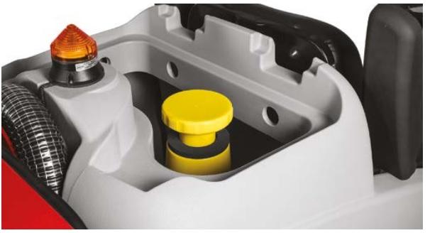 elementy do mycia zaznaczone na żółto