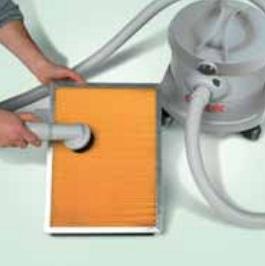łatwe czyszczenie filtra zamiatarki bateryjnej