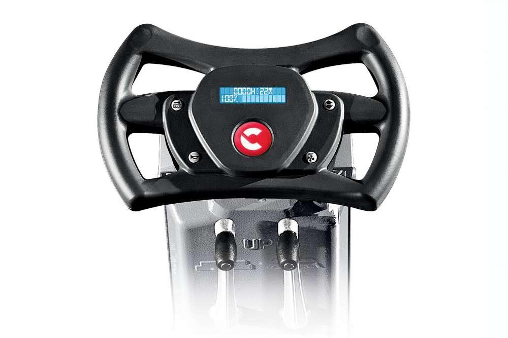 zamiatarka z ergonomiczną kierownicą